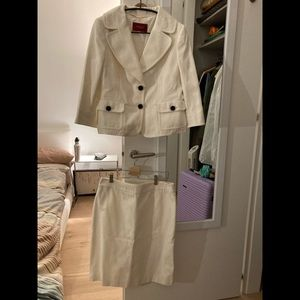 White skirt suit by Burberry